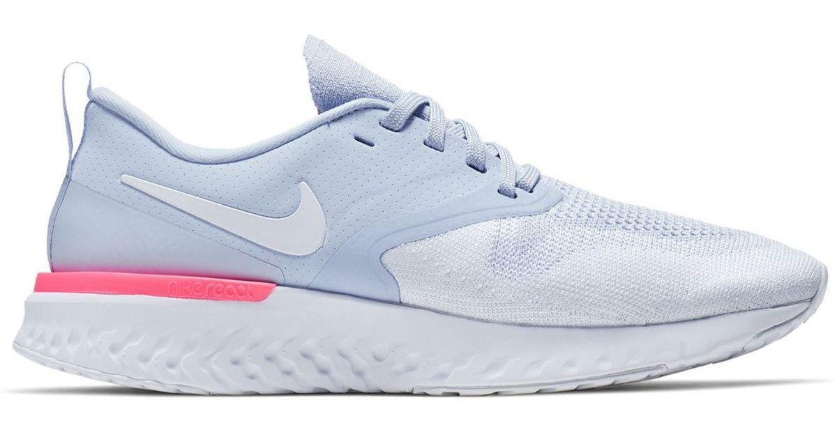 info for f2db4 76c29 Nike Odyssey React Flyknit 2 Running Shoe in Blue - Save 39% - Lyst