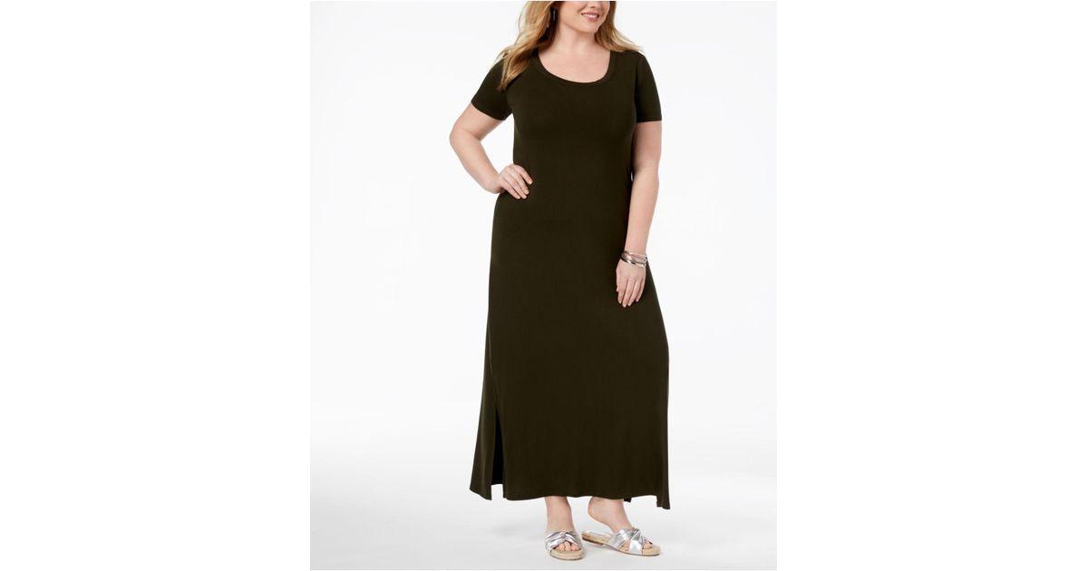 2b79dfc0d7d Lyst Style Co Plus Size T Shirt Maxi Dress In Black Save