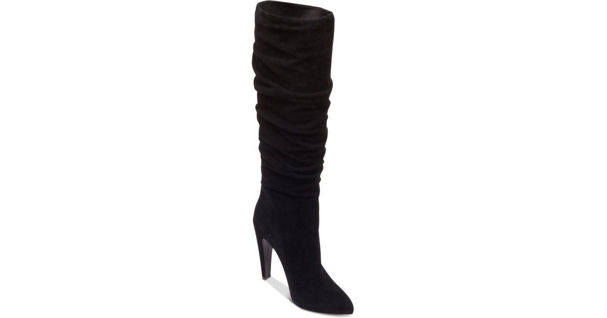 4994fce95cd5 Lyst - Steve Madden Women s Carrie Slouchy Boots in Black