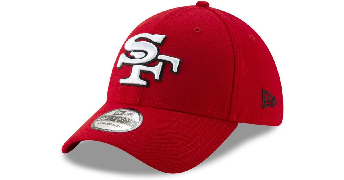 factory price 7a8dd 6889a KTZ San Francisco 49ers Logo Elements Collection 39thirty Cap in Red - Lyst