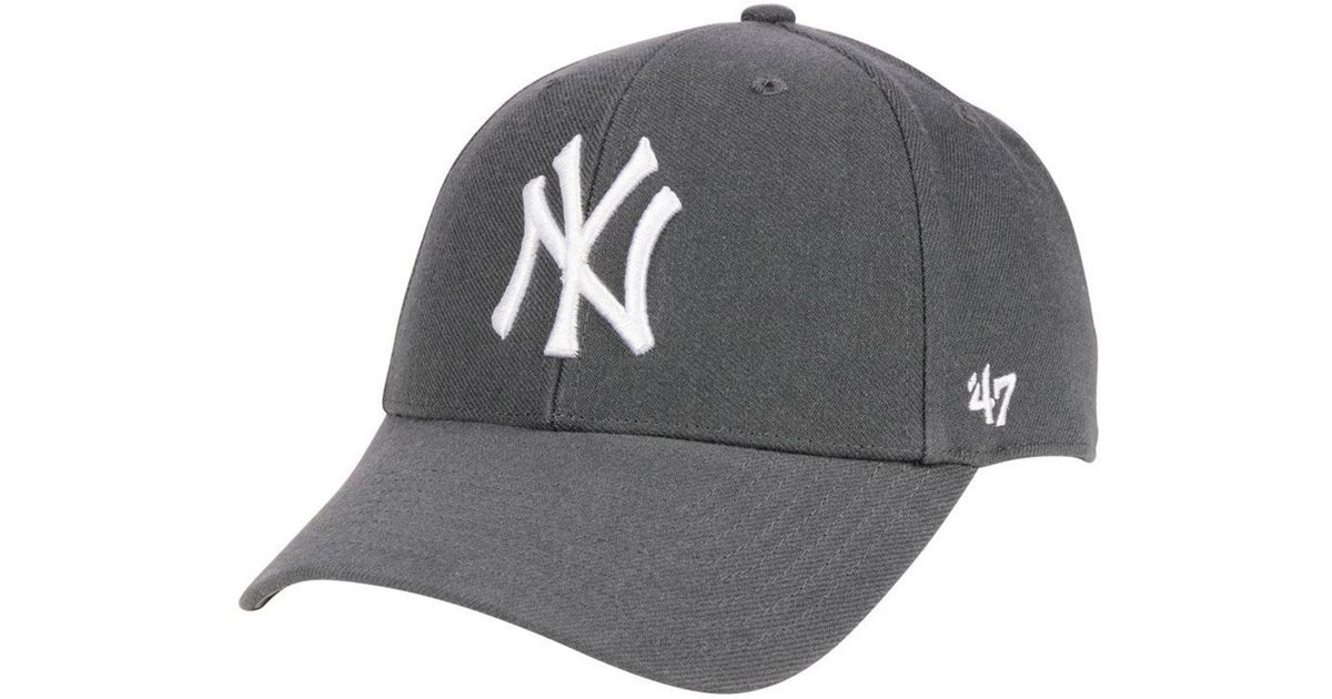 big sale f037c b0af2 ... shopping lyst 47 brand new york yankees charcoal mvp cap in gray for men  46320 e55f3