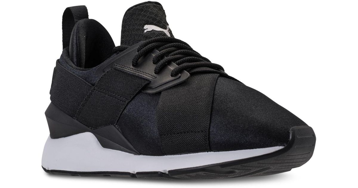 Lyst - PUMA Muse Satin Ep Casual Sneakers From Finish Line in Black b908c329e