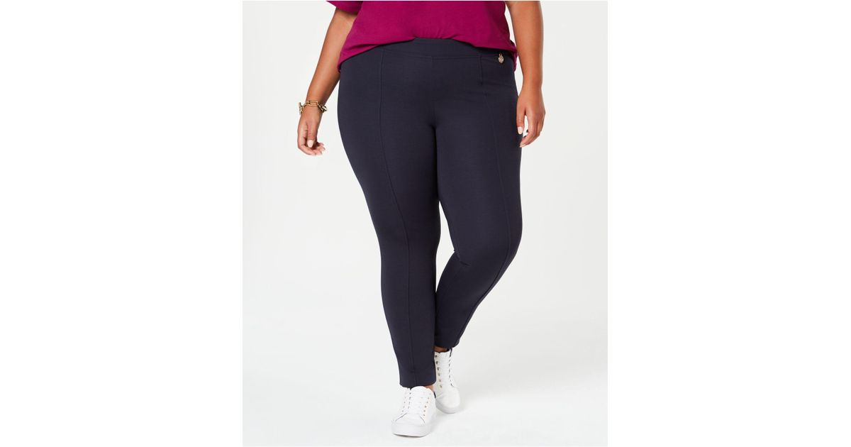 57e96232a80 Lyst - Tommy Hilfiger Plus Size Ponte Skinny Pants