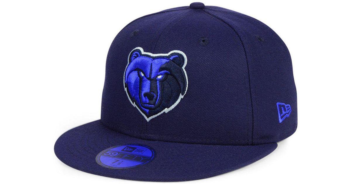 hot sale online 41895 26f72 ... wholesale lyst ktz memphis grizzlies color prism pack 59fifty fitted cap  in blue for men ccc17