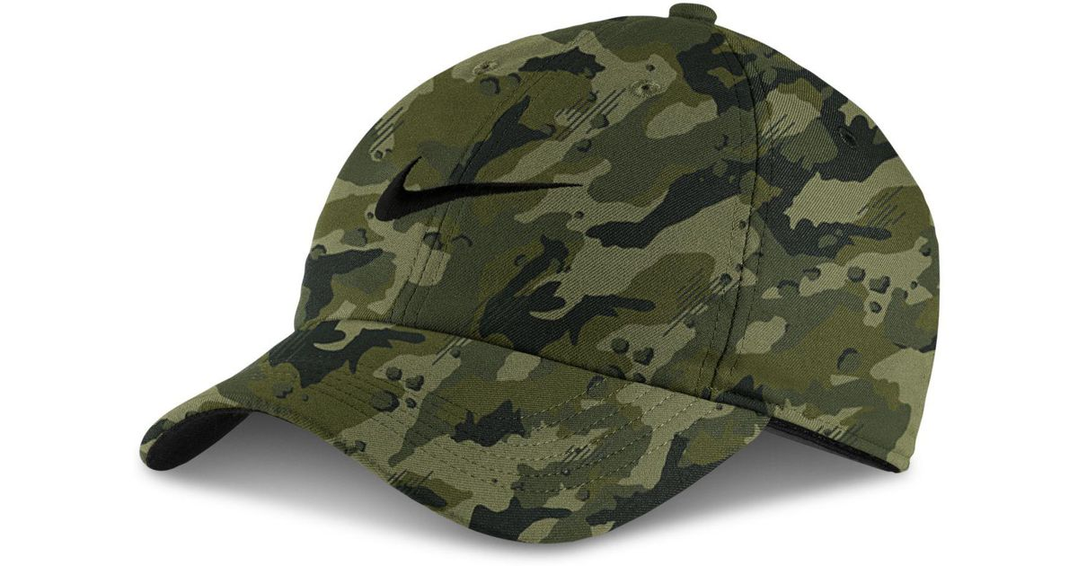size 40 922f6 71a60 ... inexpensive lyst nike aerobill dri fit camo print cap in green for men  ed60f 3c7d2 ...