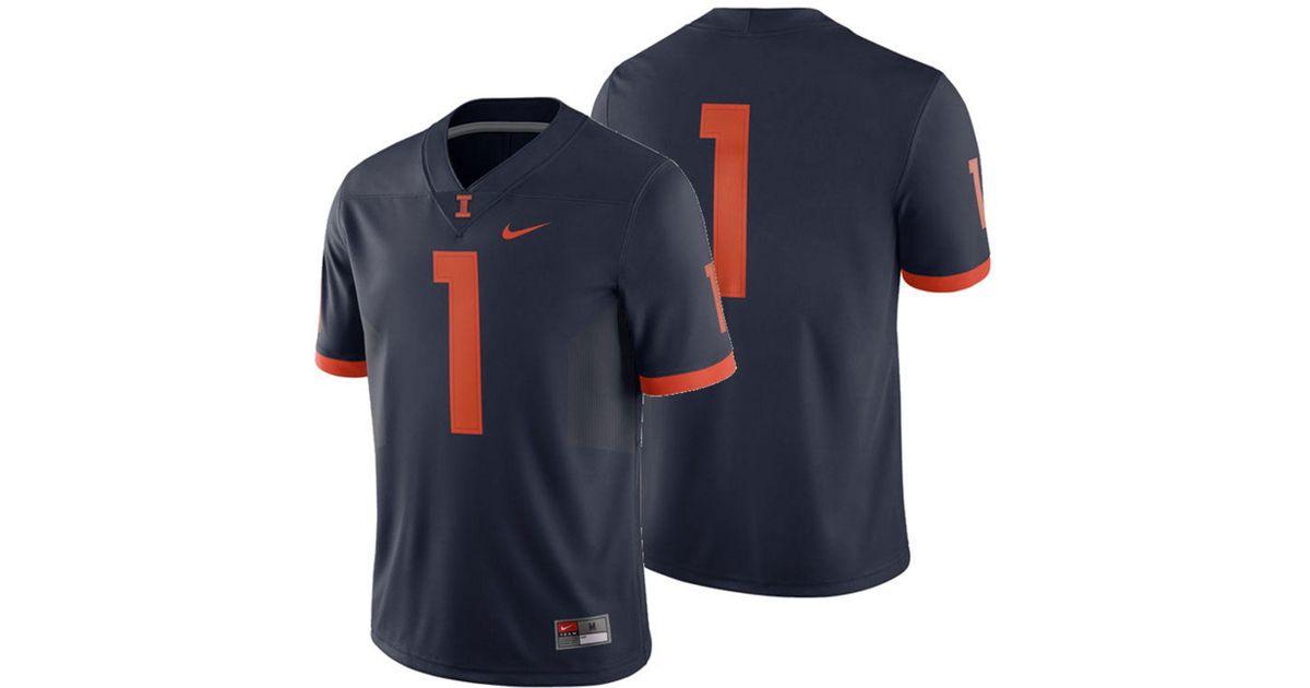 0377deb1521 Lyst - Nike Illinois Fighting Illini Football Replica Game Jersey in Blue  for Men