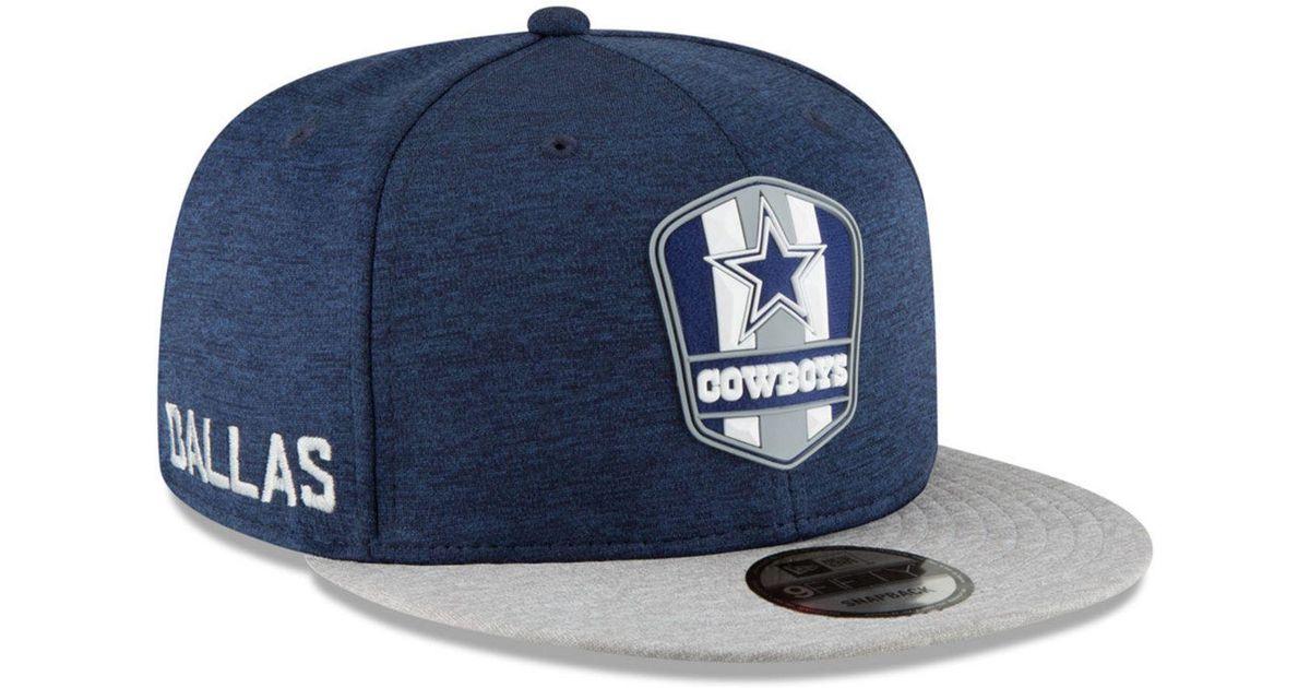 a238e7f23 ... get lyst ktz dallas cowboys on field sideline road 9fifty snapback cap  in blue for men