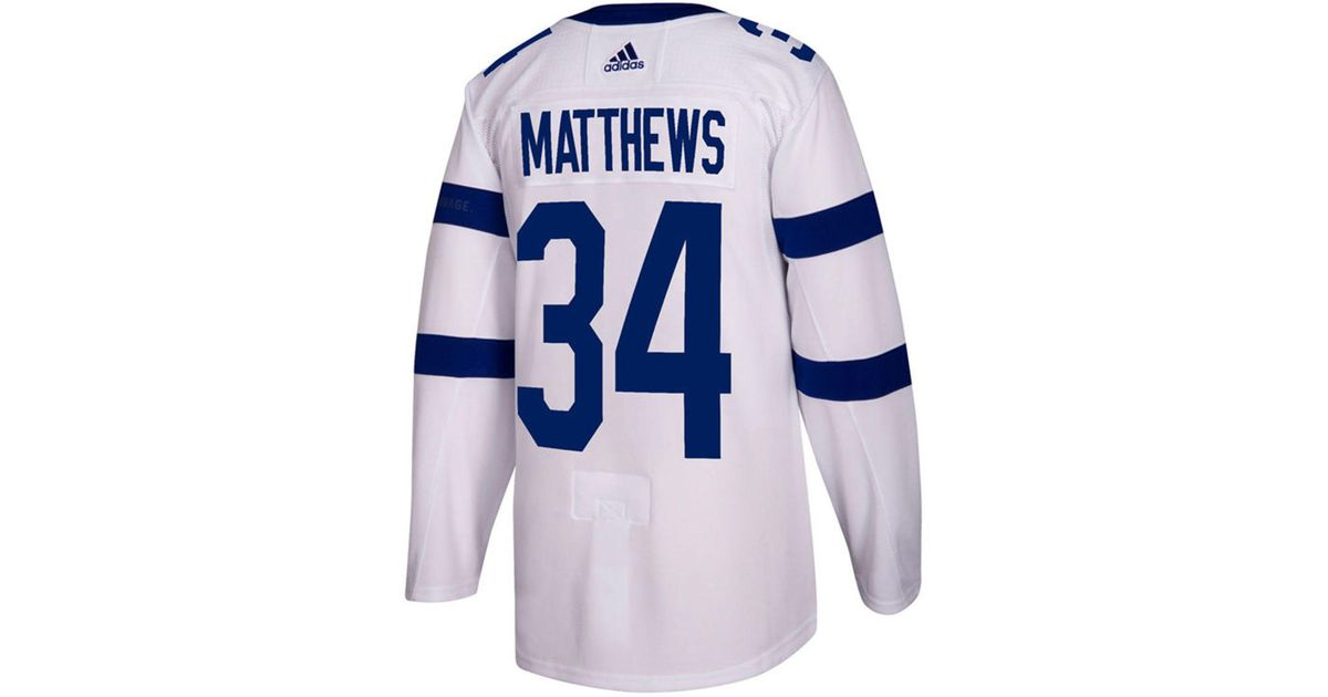 Lyst - adidas Auston Matthews Toronto Maple Leafs Authentic Pro Stadium  Series Player Jersey in White for Men 569110295