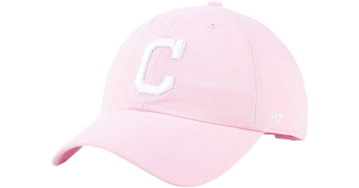 9018416ff4b21 ... spain lyst 47 brand cleveland indians pink clean up cap in pink e25d5  6513e