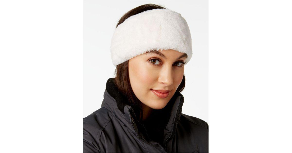 a1a66f4d56f Lyst - CALVIN KLEIN 205W39NYC Faux-fur Headband in White