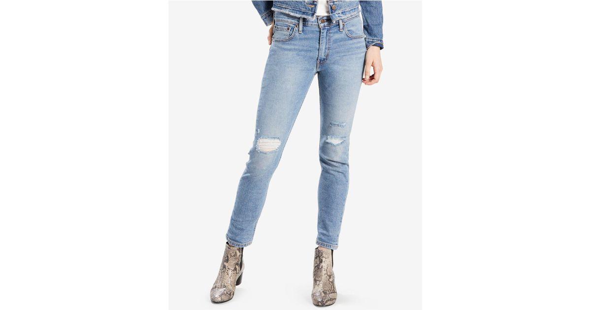 ed527fc9 Lyst - Levi's 505tmc Ripped Slim-leg Jeans in Blue