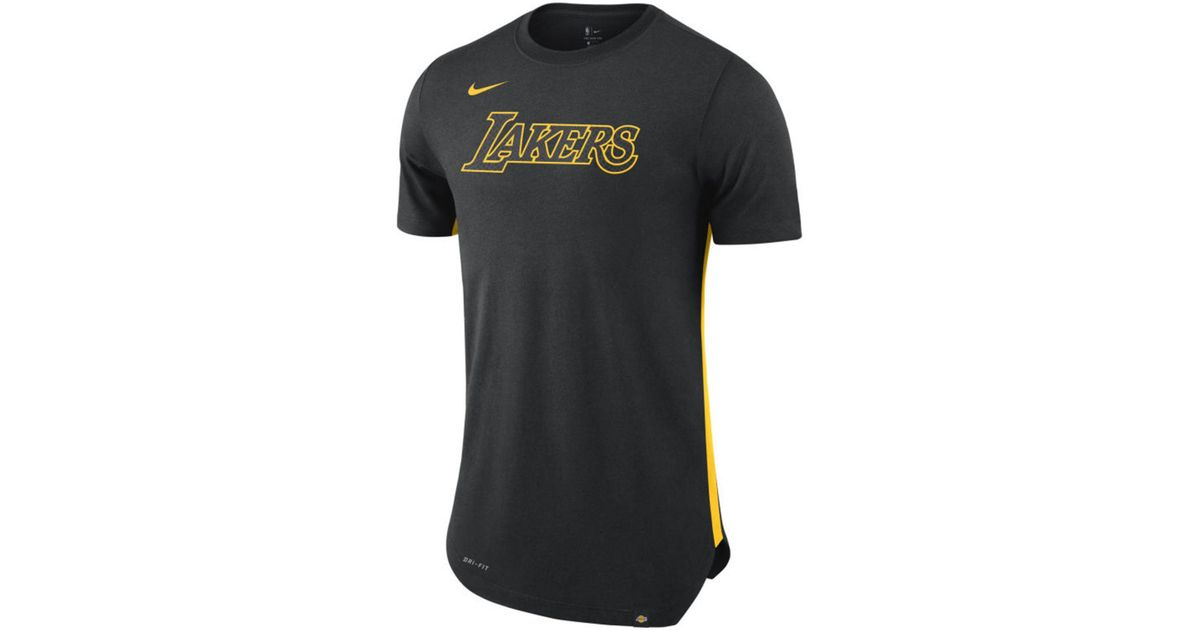 fdab9ed7a Lyst - Nike Los Angeles Lakers Alternate Hem Short Sleeve T-shirt in Black  for Men