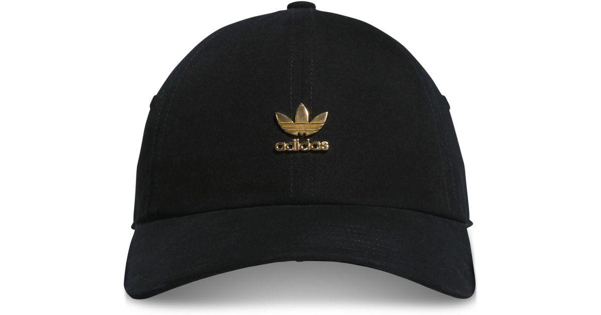 2858c07a3ac Lyst - adidas Originals Metallic-logo Relaxed Cap in Black
