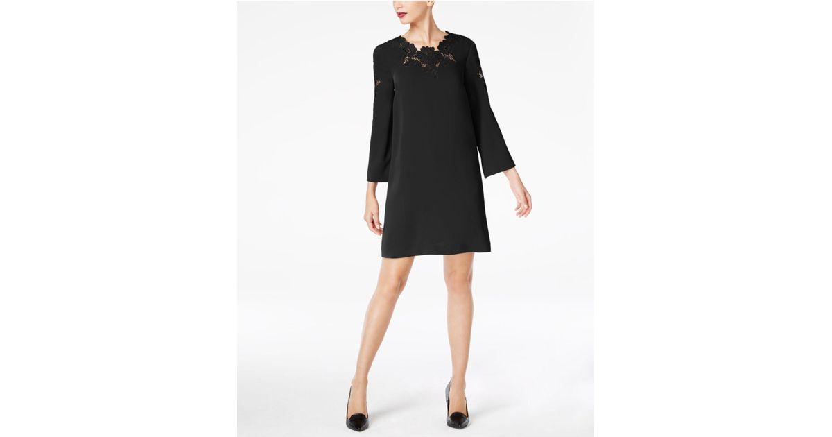 Alfani Black Lace Bell Sleeve Dress Lyst