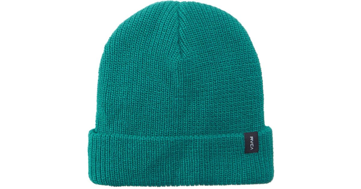 bf8d19fe RVCA Men's Towne Knit Beanie in Green for Men - Lyst
