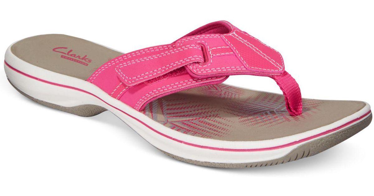 Lyst - Clarks Women s Brinkley Bree Flip-flops in Pink