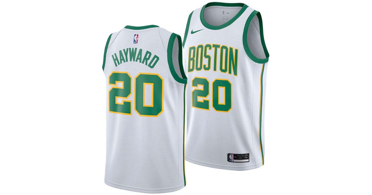 8fda5beeb Lyst - Nike Gordon Hayward Boston Celtics City Swingman Jersey 2018 in  White for Men
