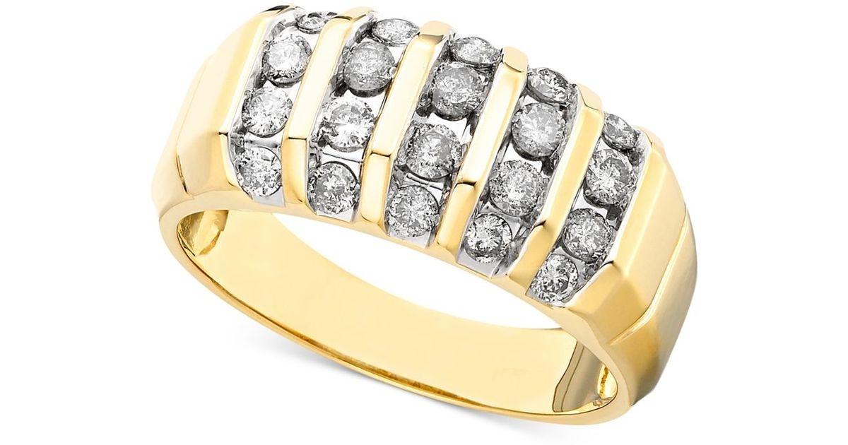 Macy s Men s Diamond Ring In 14k Gold 1 Ct T w in Metallic for Me