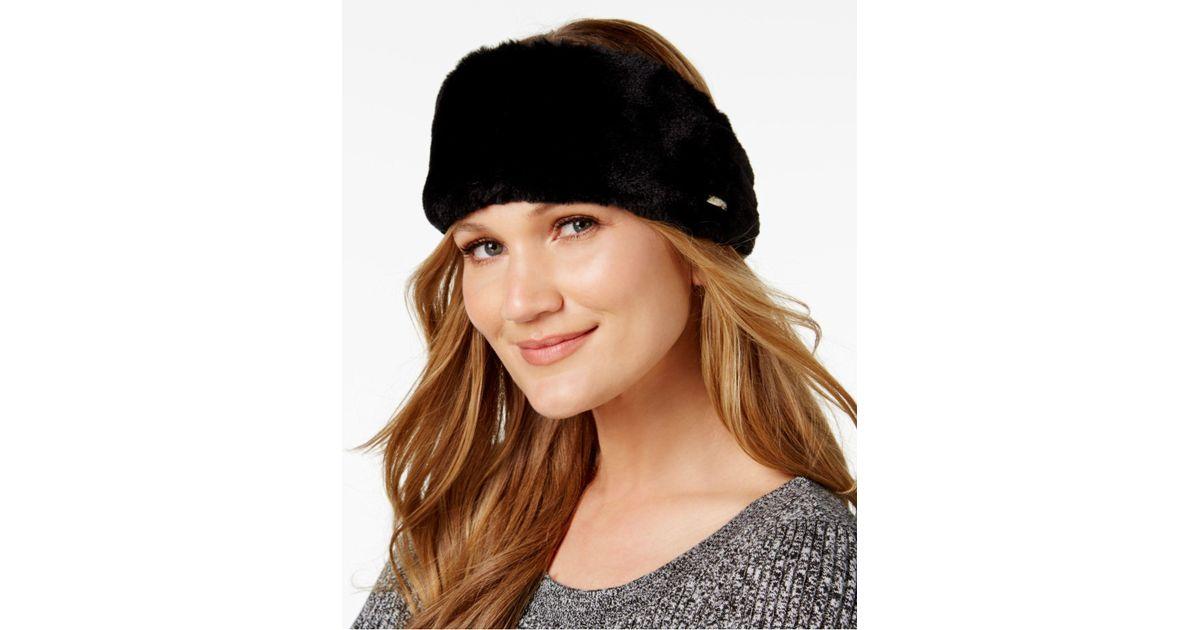 811712fdbaf Lyst - CALVIN KLEIN 205W39NYC Faux-fur Headband in Black
