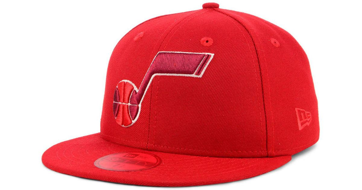info for 1a4ed 7637b Lyst - KTZ Utah Jazz Color Prism Pack 59fifty Fitted Cap in Red for Men