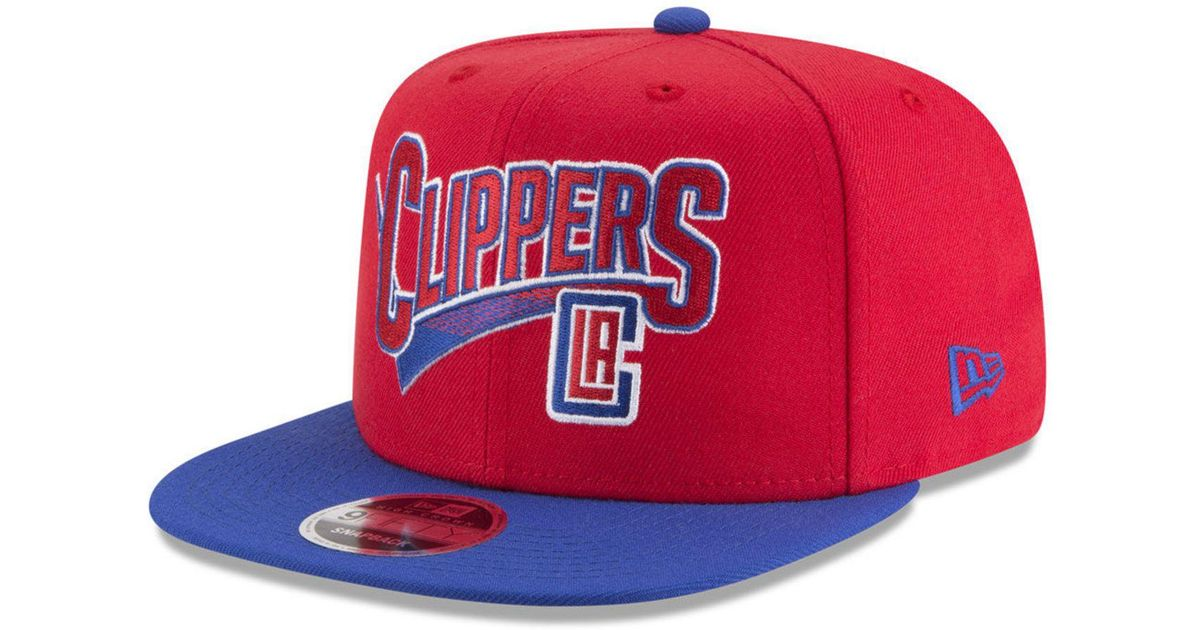 sports shoes 1b744 72615 ... cheap lyst ktz los angeles clippers retro tail 9fifty snapback cap in  red for men 06686