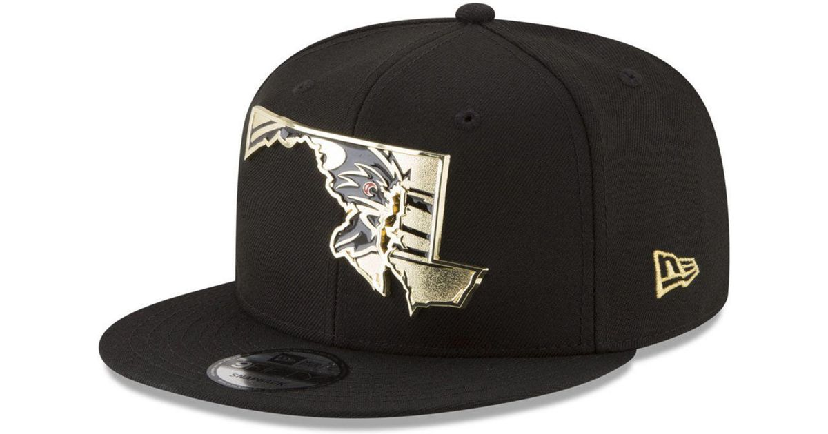 Lyst - KTZ Baltimore Ravens Gold Stated 9fifty Snapback Cap in Black for Men 66489324e932