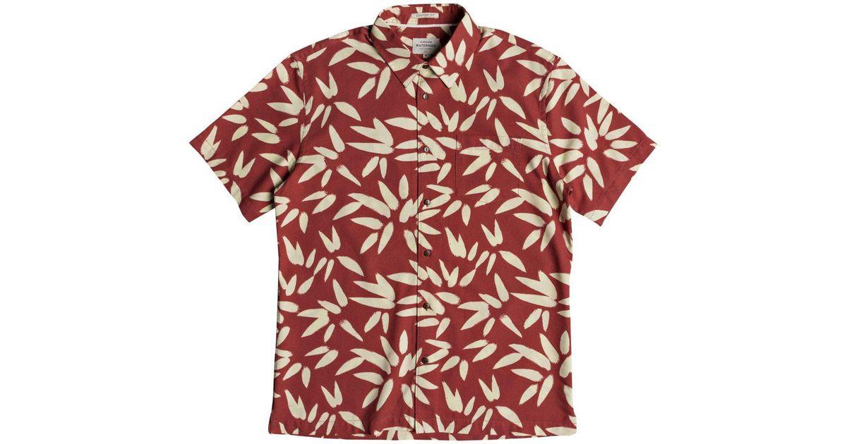 eea0e7449 Lyst - Quiksilver Odysea Shirt in Red for Men