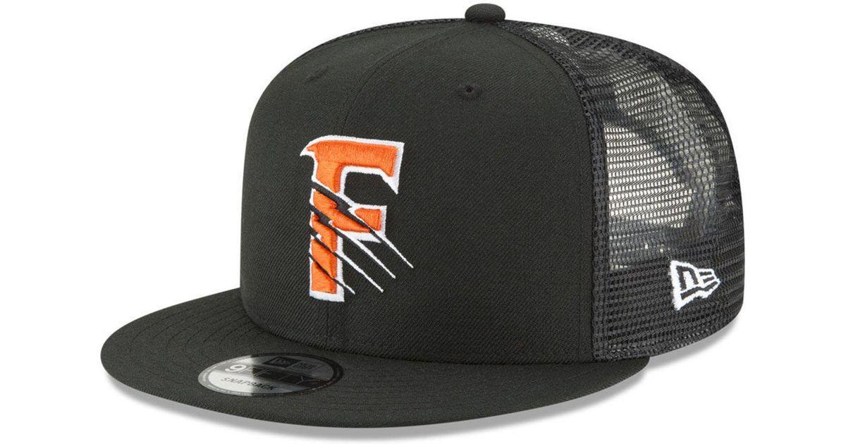 low cost 84198 7848c Lyst - KTZ Fresno Grizzlies Trucker 9fifty Snapback Cap in Black for Men