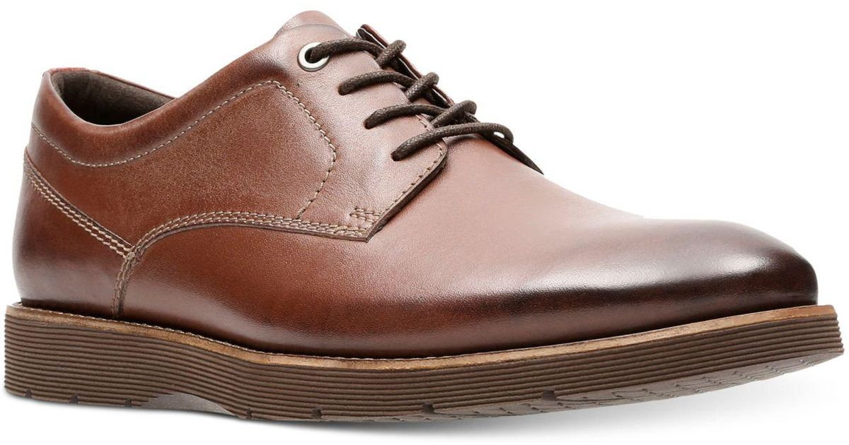 Lyst Men Plain Oxford Clarks Brown For In ShoesFolcroft Toe v8mON0nw