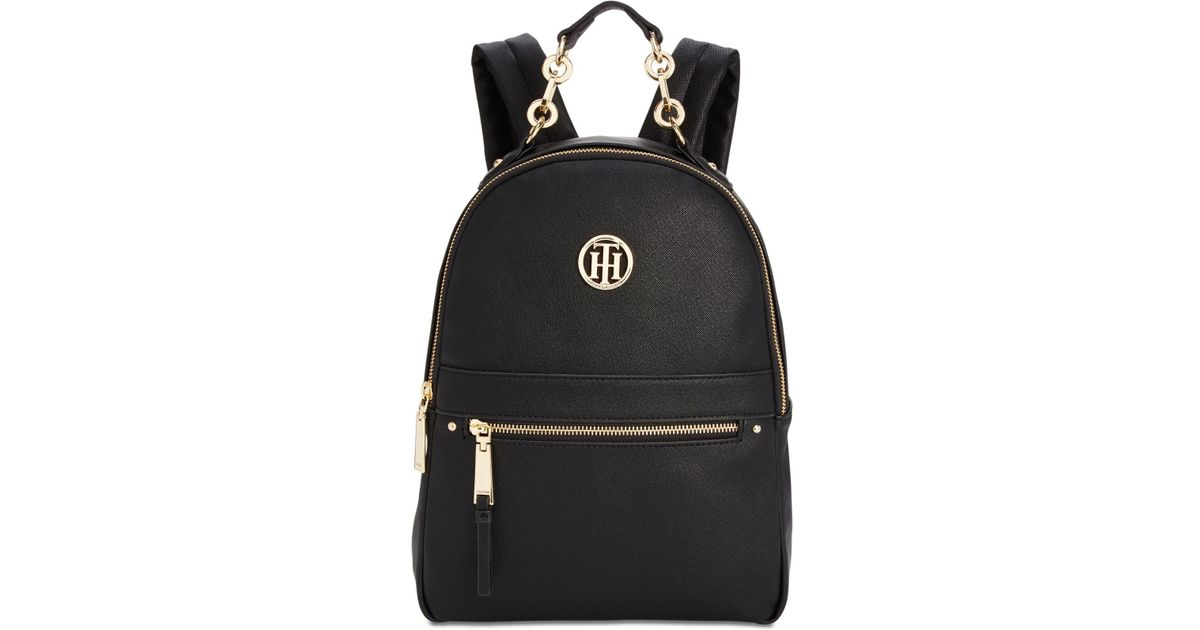 3c78f91fd9 Lyst - Tommy Hilfiger Charming Textured Small Backpack in Black