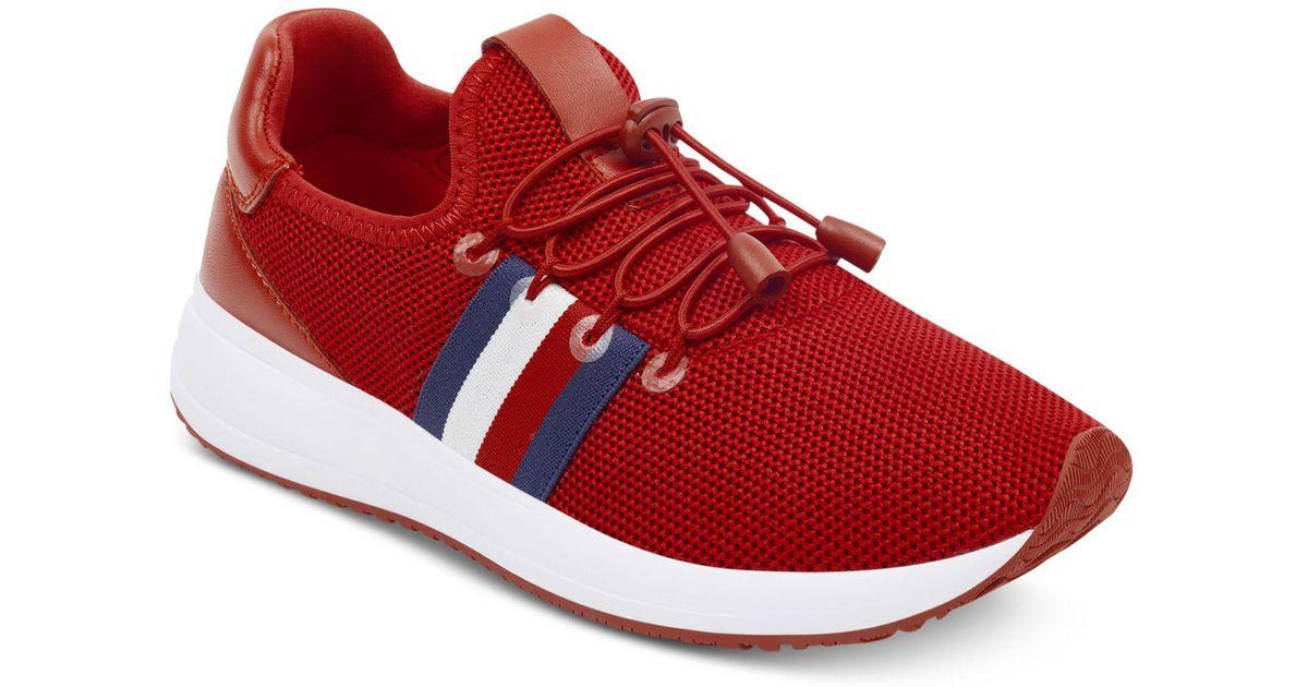 ee38d8b65bbdf2 Lyst - Tommy Hilfiger Rhena Sneakers in Red