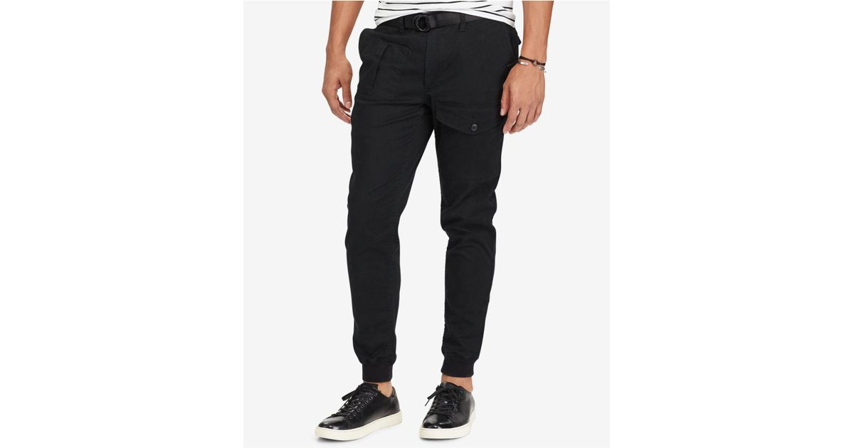 Lyst - Polo Ralph Lauren Men s Stretch Straight Fit Jogger Pants in Black  for Men 0f8bb809c