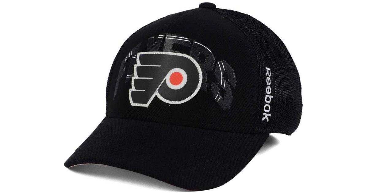 e614016def9aa Lyst - Reebok Philadelphia Flyers Stadium Series Coaches Flex Cap in Black  for Men