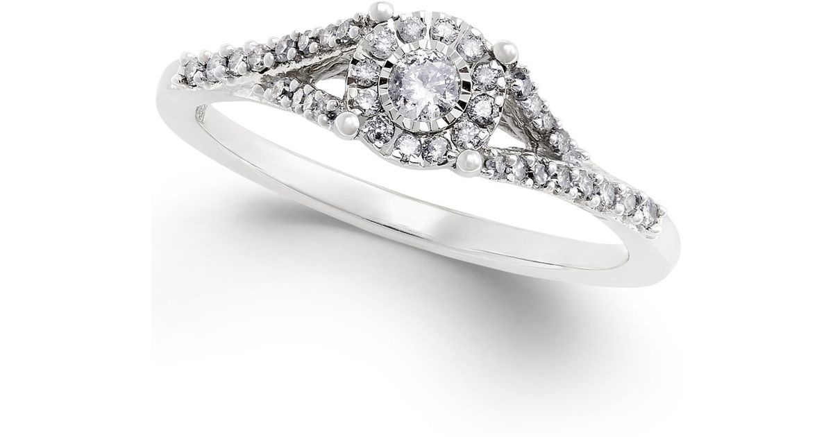 macy s promise ring in sterling silver 1 4 ct t