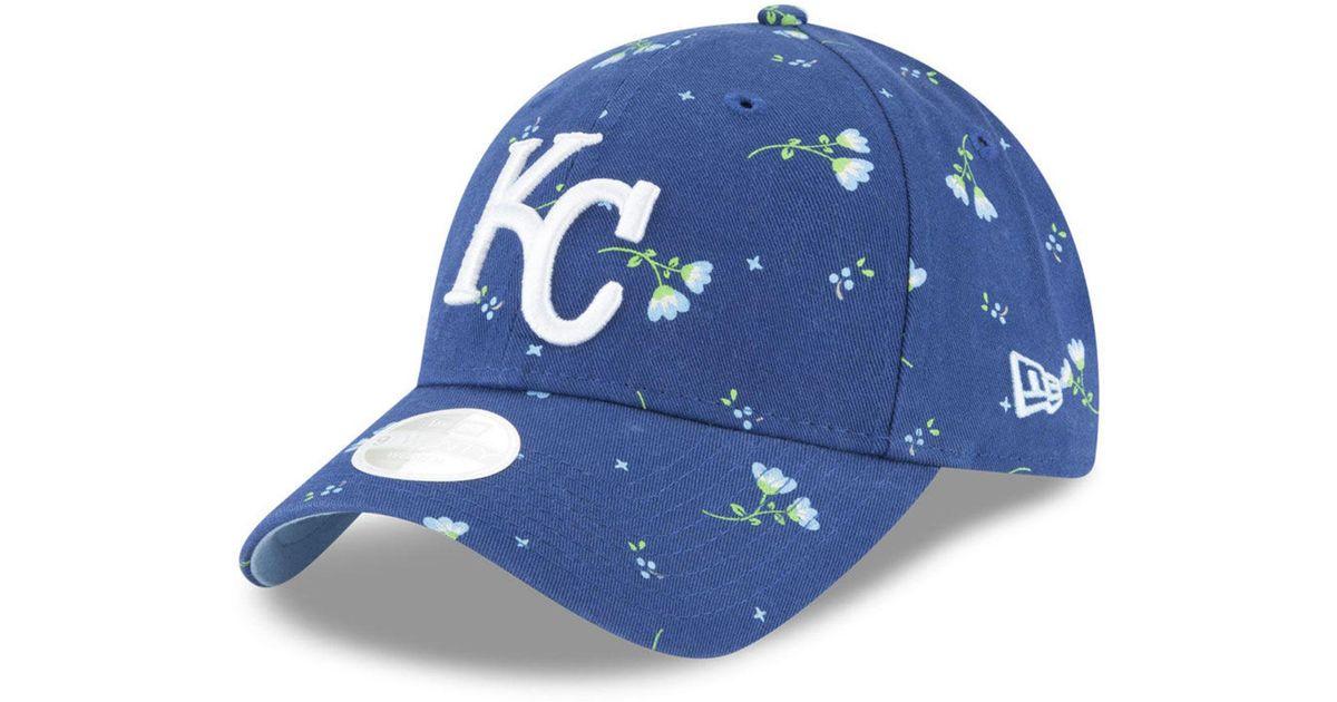 buy popular 0a562 83899 Lyst - KTZ Kansas City Royals Blossom 9twenty Strapback Cap in Blue for Men
