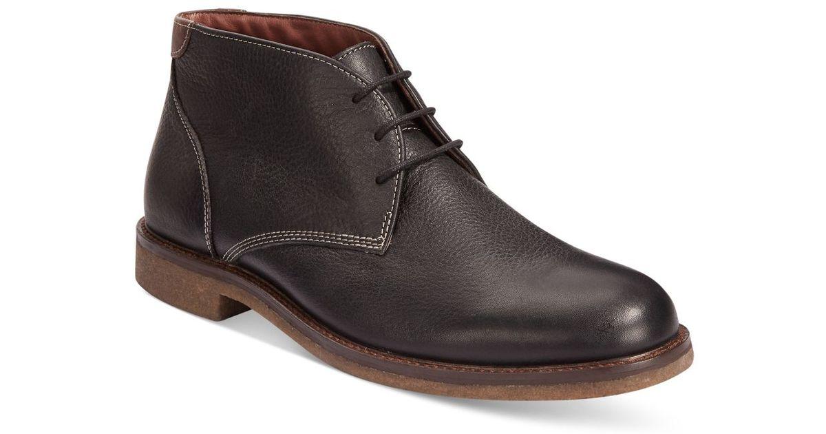 johnston murphy copeland chukka boots in black for
