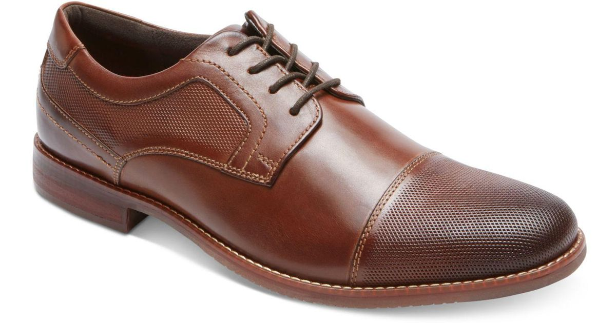 For Men Men's Rockport Brown Style Cap Toe Lyst Blucher Purpose Oxfords WdrCoxBe