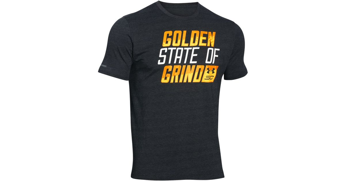 check out 856ca facef Lyst - Under Armour Men s Stephen Curry Golden State Of Grind T-shirt in  Black for Men