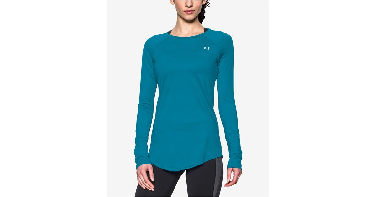 Under Armour Sunblock Upf 50 Long Sleeve T Shirt In Blue