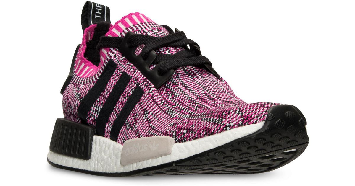 66bfec399438 Lyst - adidas Women s Nmd Xr1 Primeknit Casual Sneakers From Finish Line in  Pink