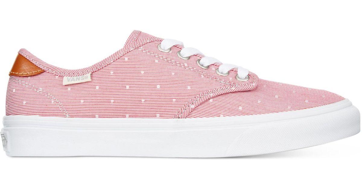 Vans Women S Camden Deluxe Chambray Lace Up Sneakers In