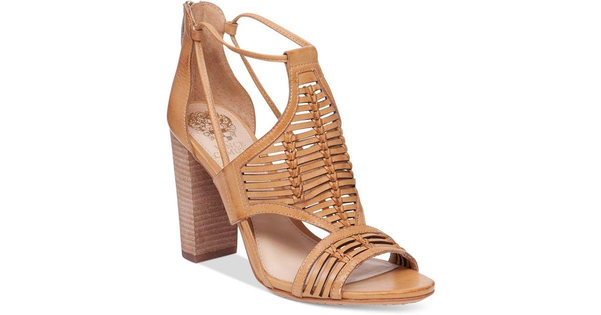 3613f650509 Lyst - Vince Camuto Ceara Huarache Block-heel Dress Sandals in Natural