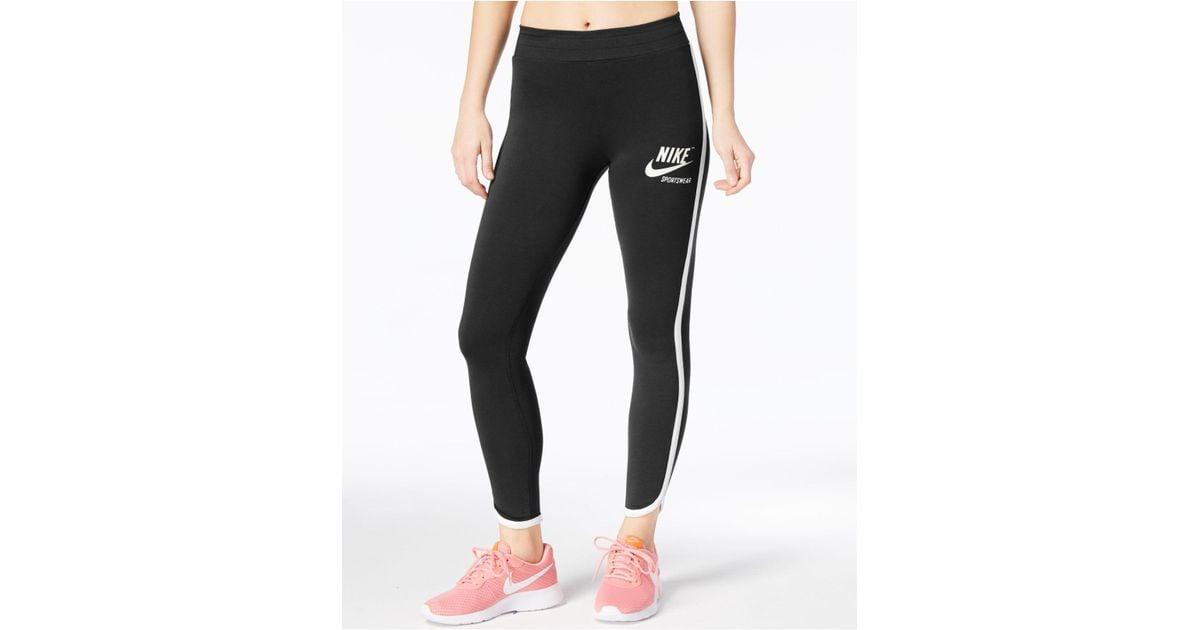 64787d5dcbe4ea Nike Archive Piped Leggings in Black - Lyst