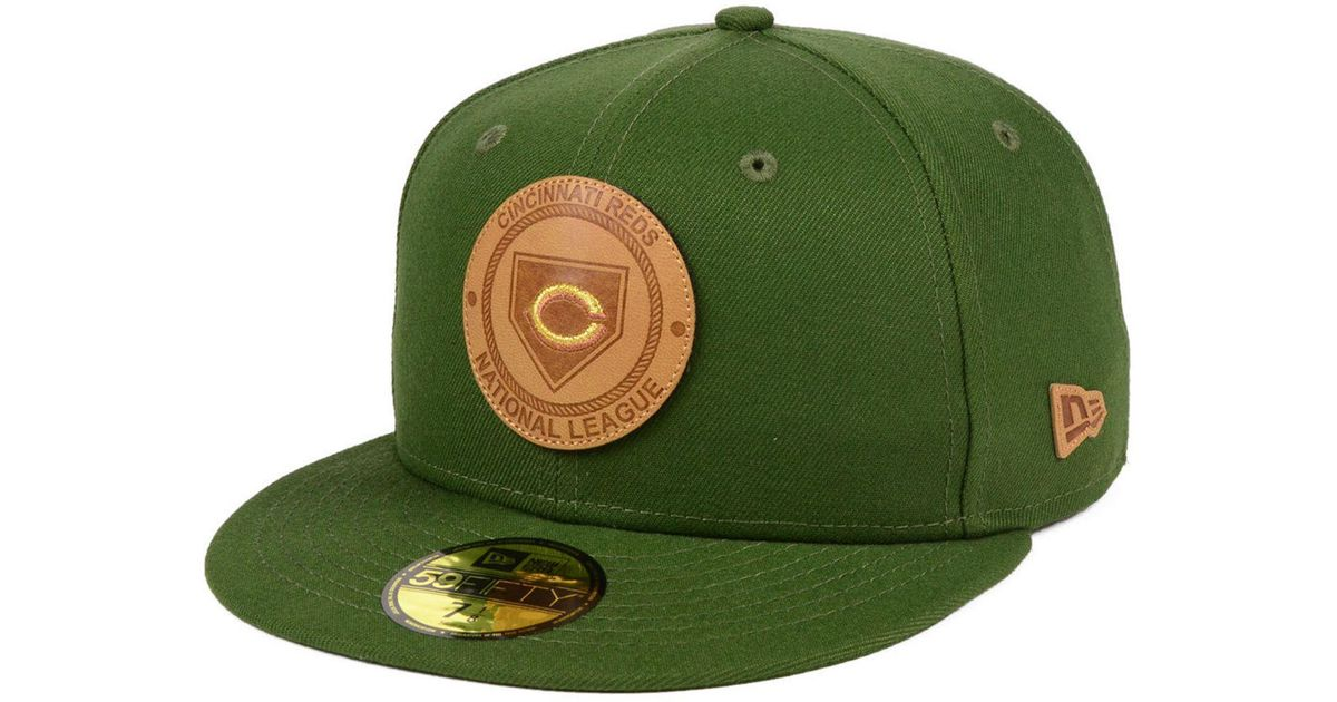 b1364599e34 Lyst - KTZ Cincinnati Reds Vintage Olive 59fifty Fitted Cap in Green for Men