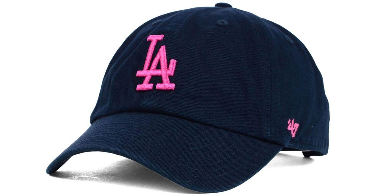 quality design d6532 b73fd ... italy lyst 47 brand womens los angeles dodgers clean up cap in blue  5ed78 492e5