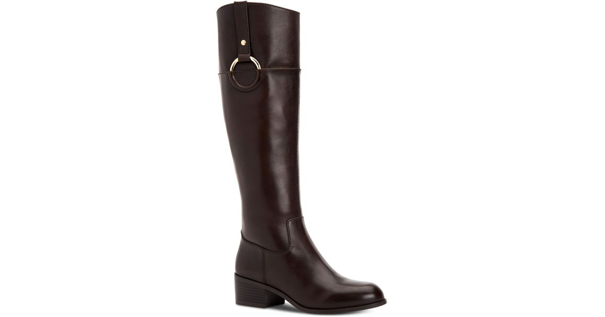 6c54350163f0 Lyst - Alfani Step  n Flex Briaah Riding Boots