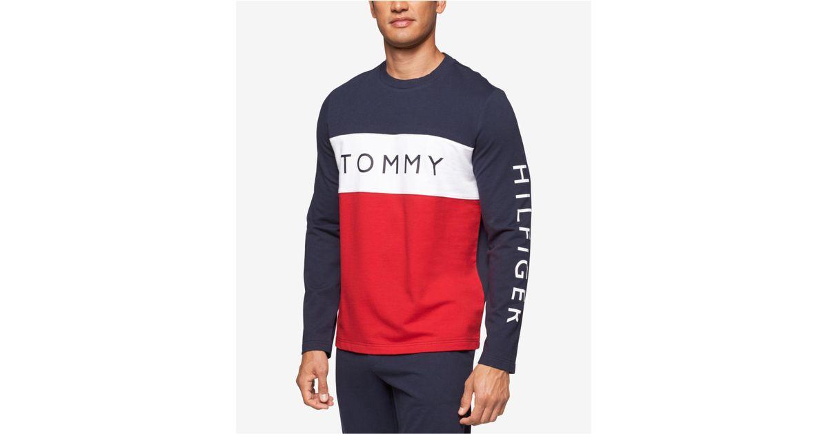 bf1efc7318dd35 Tommy Hilfiger Men's Modern Essentials Cotton French Terry Logo Top in Blue  for Men - Lyst