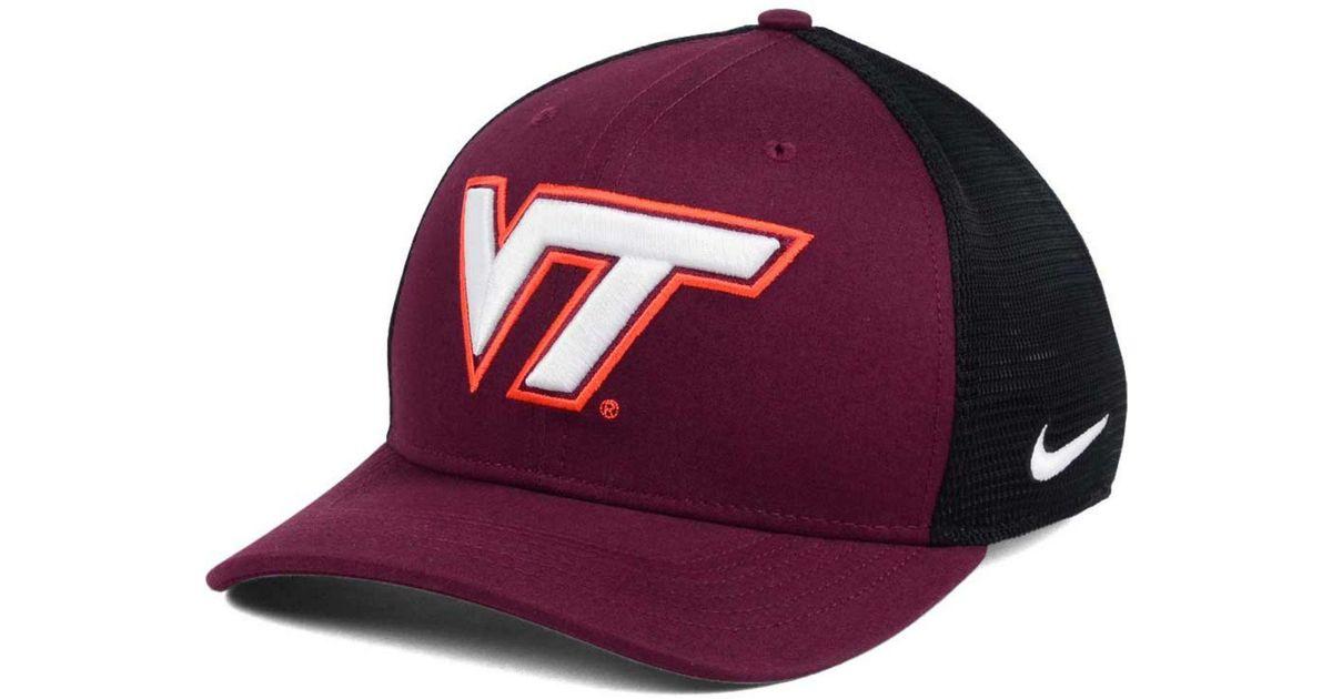 new product b3419 1d234 ... flex hat c8abe 7d51f  get lyst nike virginia tech hokies aero bill mesh  swooshflex cap for men 6bf68 777f5