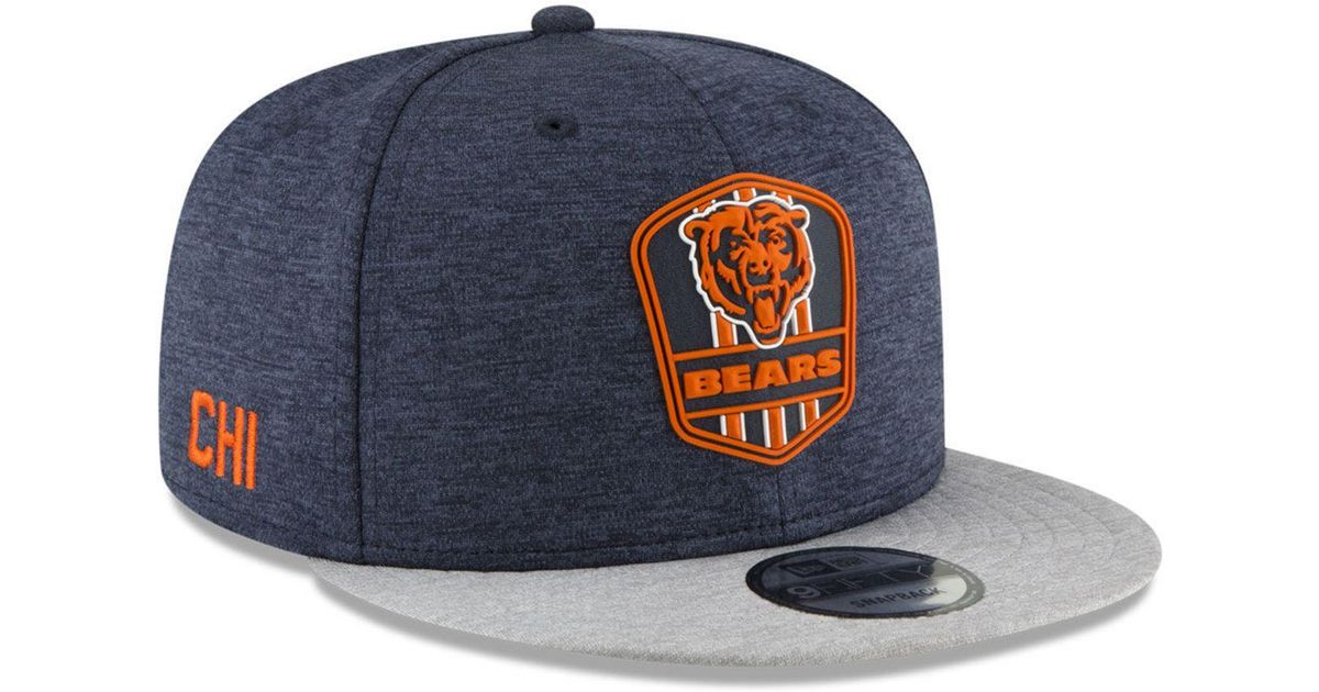 3928c8b9628 Lyst - Ktz Chicago Bears On Field Sideline Road 9fifty Snapback Cap in Blue  for Men