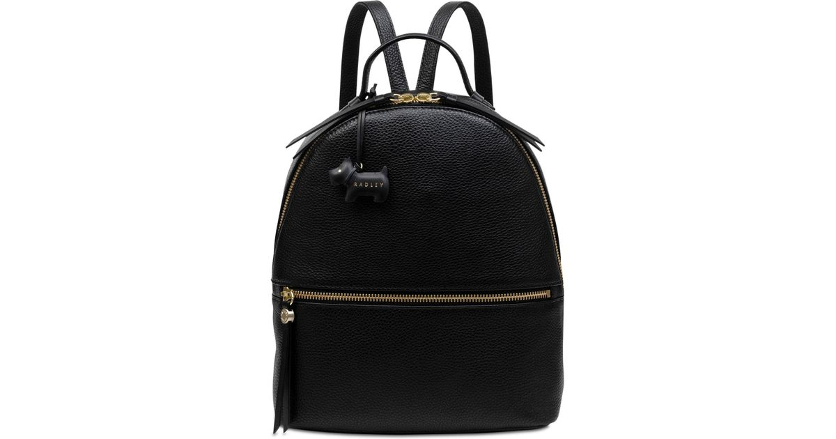 Lyst - Radley Fountain Road Leather Backpack in Black 6e8ec9736d